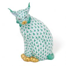 Herend Porcelain Fishnet Figurine of a Lynx